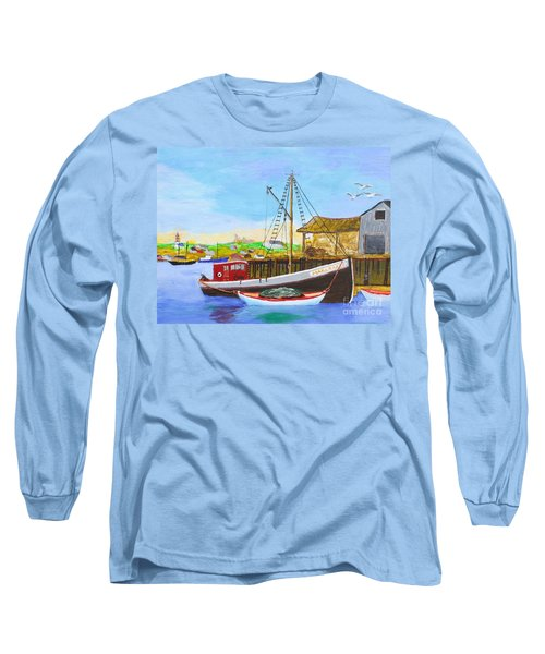 Fitting Out For Seining Long Sleeve T-Shirt by Bill Hubbard