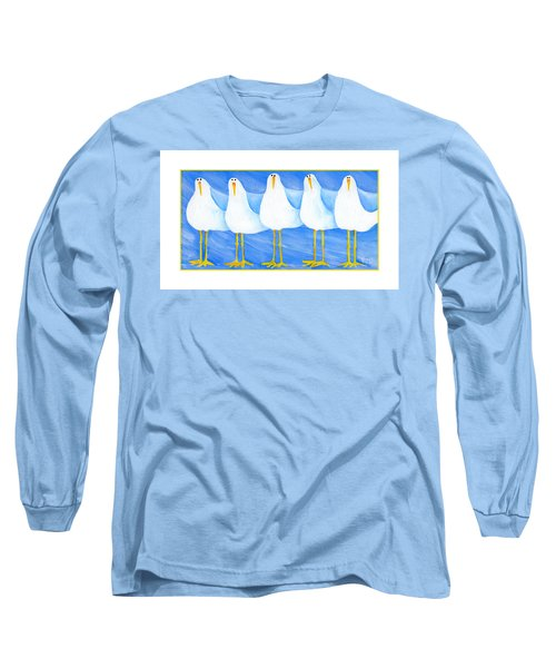 Five Seagulls Long Sleeve T-Shirt