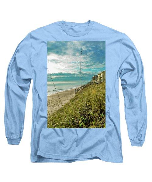 St Aug Beach Long Sleeve T-Shirt by Josy Cue