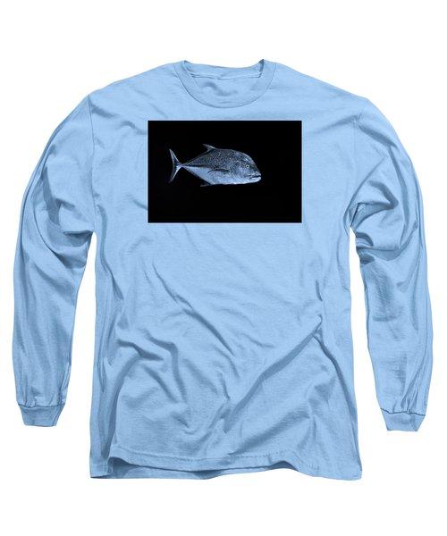 Fla-150811-nd800e-26052-bw-blue Long Sleeve T-Shirt by Fernando Lopez Arbarello