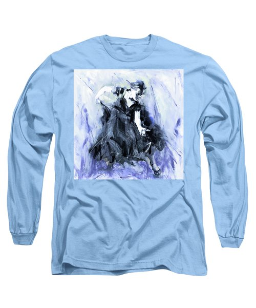 Long Sleeve T-Shirt featuring the painting Flamenco Dancer Art 45h by Gull G