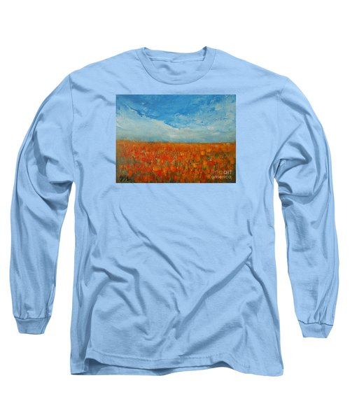 Flaming Orange Long Sleeve T-Shirt by Jane See