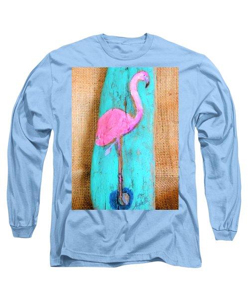 Flamingo Long Sleeve T-Shirt by Ann Michelle Swadener