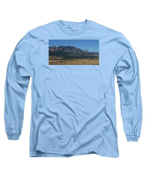 Long Sleeve T-Shirt featuring the photograph Flatirons Of Boulder by Christopher Kirby
