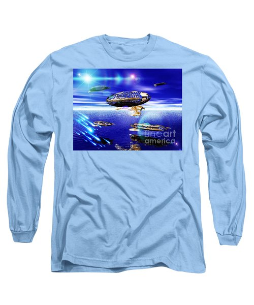 Long Sleeve T-Shirt featuring the digital art Fleet Lomo by Jacqueline Lloyd