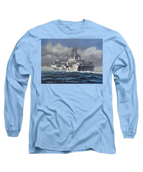 Long Sleeve T-Shirt featuring the painting Flight Ops by Stephen Roberson