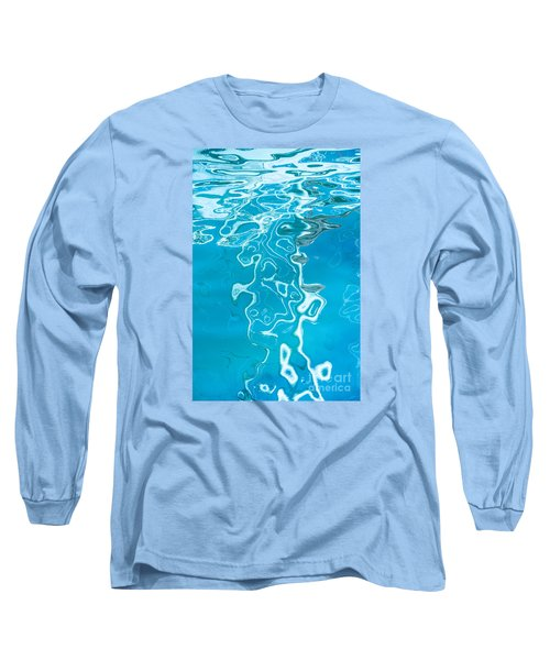 Floating On Blue 38 Long Sleeve T-Shirt by Wendy Wilton