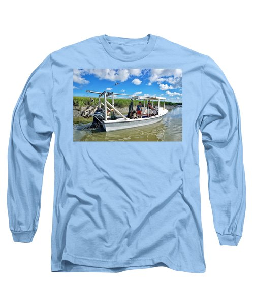 Floating On Shallow Water Long Sleeve T-Shirt
