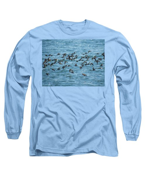 Flock Of Birds Long Sleeve T-Shirt by Trace Kittrell
