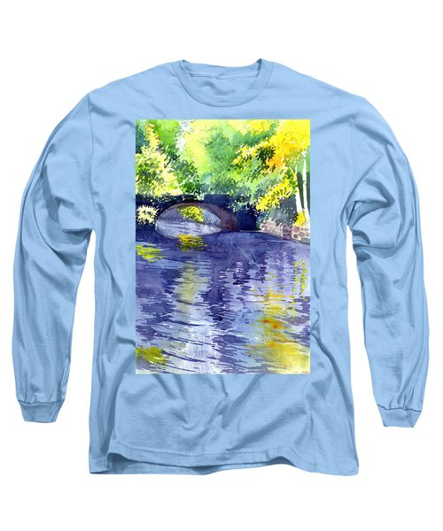 Long Sleeve T-Shirt featuring the painting Floods by Anil Nene
