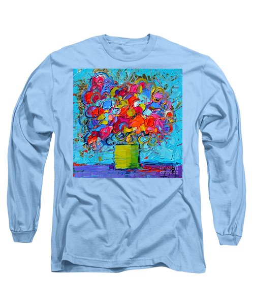 Floral Miniature - Abstract 0415 Long Sleeve T-Shirt