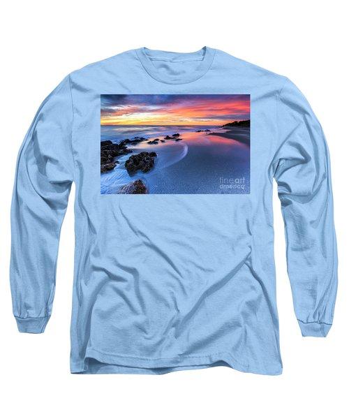 Florida Beach Sunset 4 Long Sleeve T-Shirt