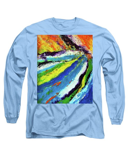 Long Sleeve T-Shirt featuring the painting Flowage by Everette McMahan jr