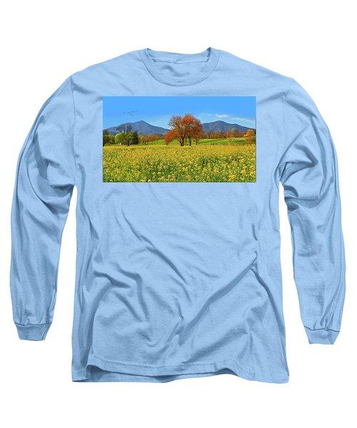 Flowering Meadow, Peaks Of Otter,  Virginia. Long Sleeve T-Shirt