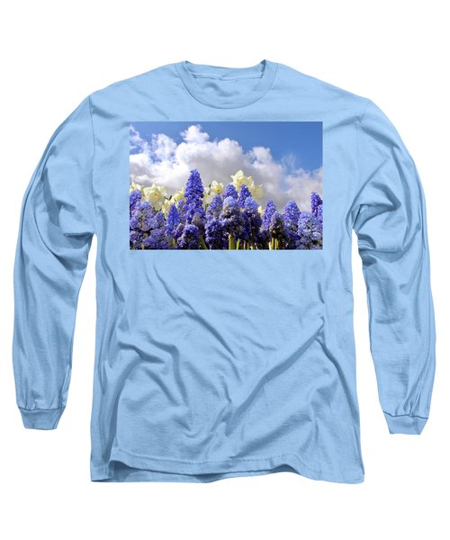 Flowers And Sky Long Sleeve T-Shirt