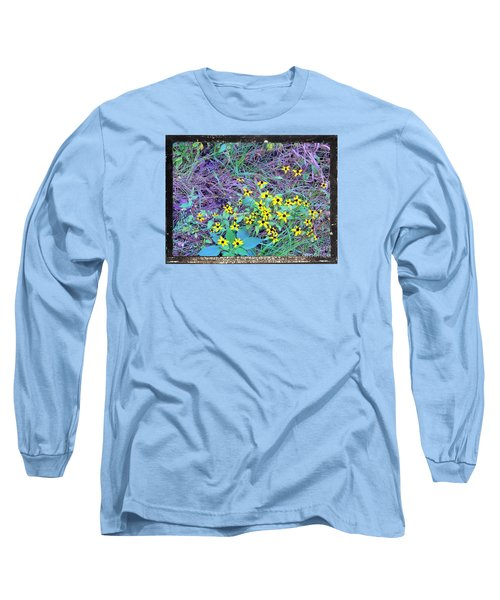 Long Sleeve T-Shirt featuring the photograph Flowers Gone Wild by Shirley Moravec