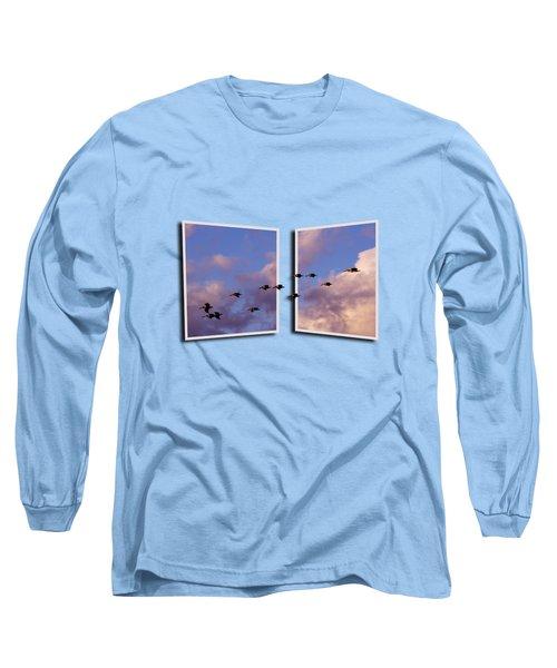 Flying Across Long Sleeve T-Shirt