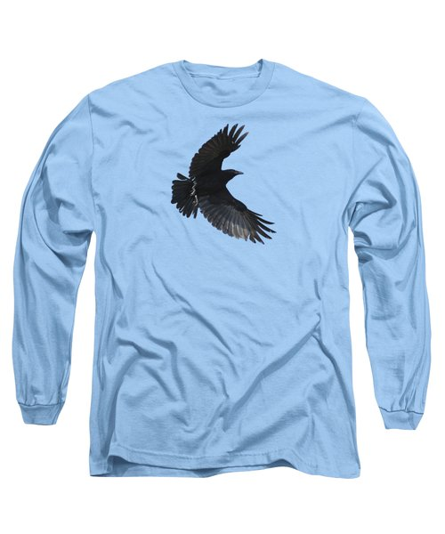 Long Sleeve T-Shirt featuring the photograph Flying Crow by Bradford Martin