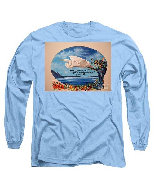 Flying Egret Long Sleeve T-Shirt