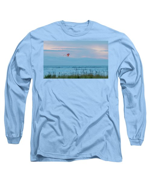 Flying High Over The Pacific Long Sleeve T-Shirt