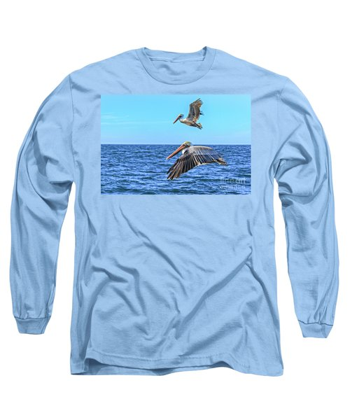 Long Sleeve T-Shirt featuring the photograph Flying Pair by Robert Bales