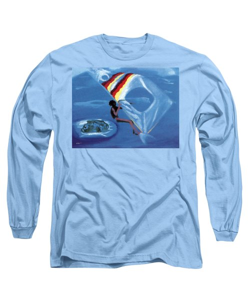 Flying Windsurfer Long Sleeve T-Shirt