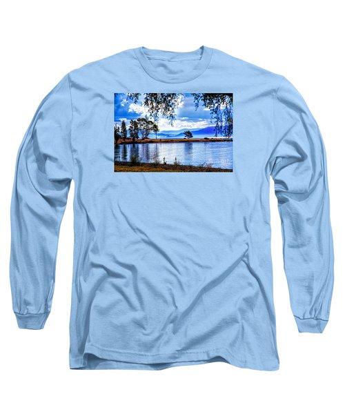 Foggy Hills And Lakes Long Sleeve T-Shirt by Rick Bragan