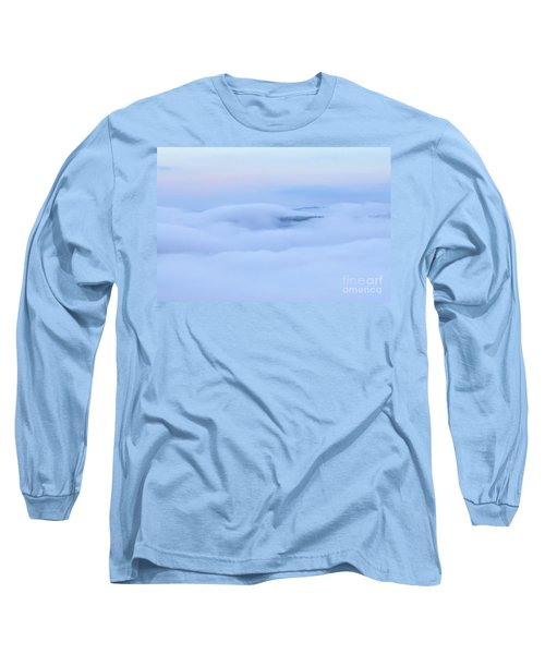 Long Sleeve T-Shirt featuring the photograph Foggy Layers by Kerri Farley