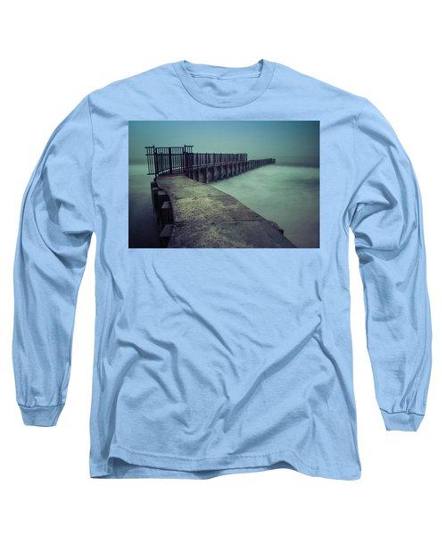 Foggy Night At Toes Beach Long Sleeve T-Shirt
