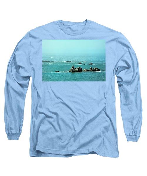 Sunny Blue Pacific Ocean Along The Oregon Coast Long Sleeve T-Shirt