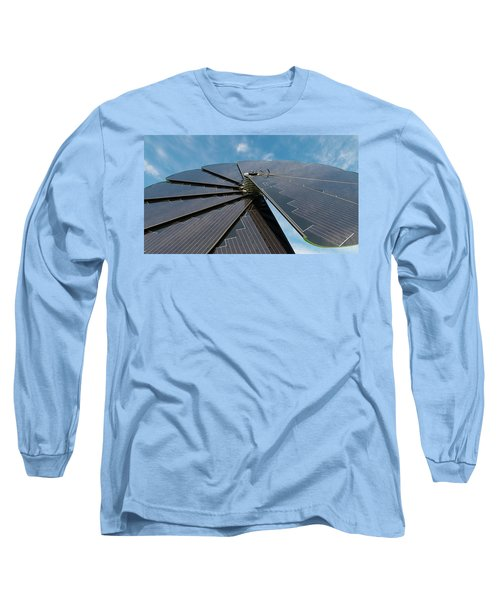 Foldable Solar Collector Long Sleeve T-Shirt by Hans Engbers