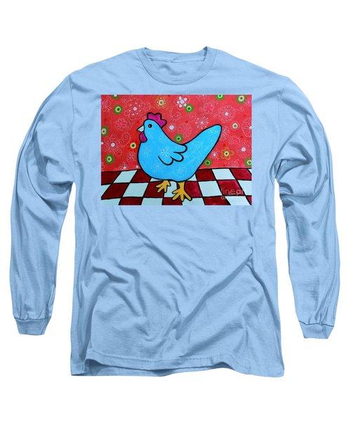 Folk Art Rooster Long Sleeve T-Shirt