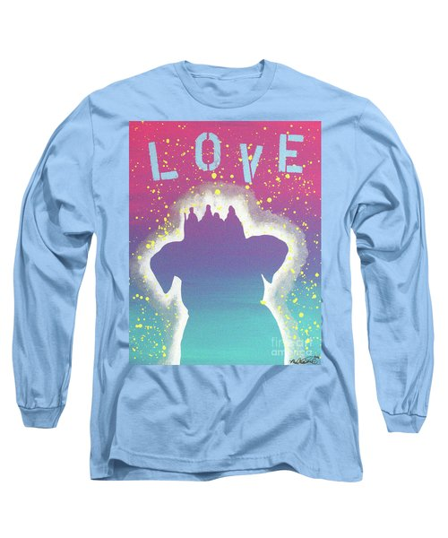 For The Love Of Pups Long Sleeve T-Shirt by Melissa Goodrich