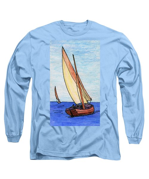 Force Of The Wind On The Sails Long Sleeve T-Shirt by R Kyllo