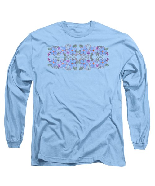 Forget Me Not Garland Long Sleeve T-Shirt by Teresa Ascone