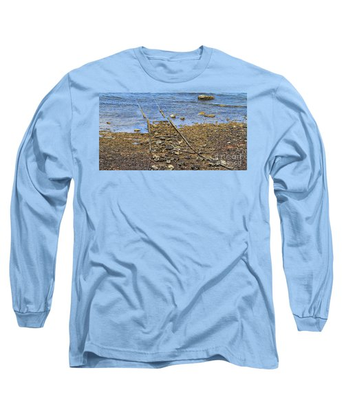 Long Sleeve T-Shirt featuring the photograph Forgotten Line II by Stephen Mitchell