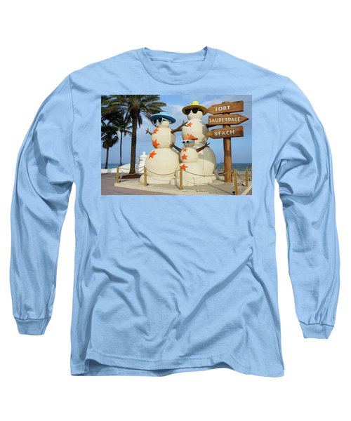 Fort Lauderdale Snowman Long Sleeve T-Shirt