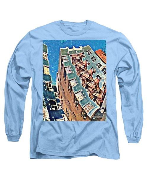 Fort Washington Avenue Building Long Sleeve T-Shirt by Sarah Loft