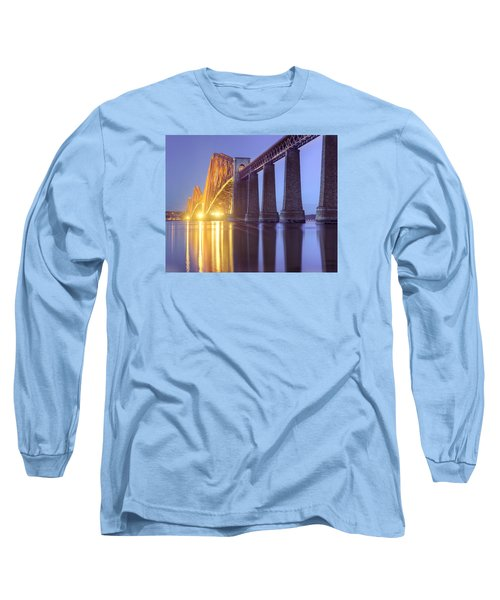 Long Sleeve T-Shirt featuring the photograph Forth Bridge Twilight by Ray Devlin
