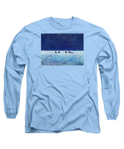 Four Loons On Parker Pond Long Sleeve T-Shirt