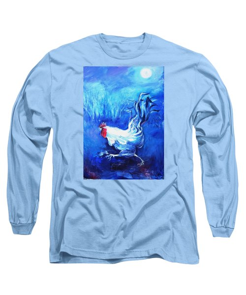 Long Sleeve T-Shirt featuring the painting Fox Alert   by Trudi Doyle