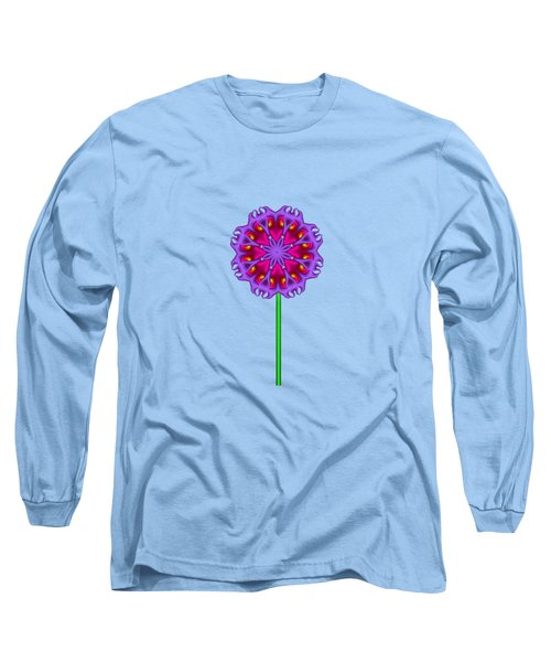 Fractal Flower Garden Flower 01 Long Sleeve T-Shirt