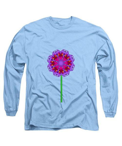 Fractal Flower Garden Flower 01 Long Sleeve T-Shirt