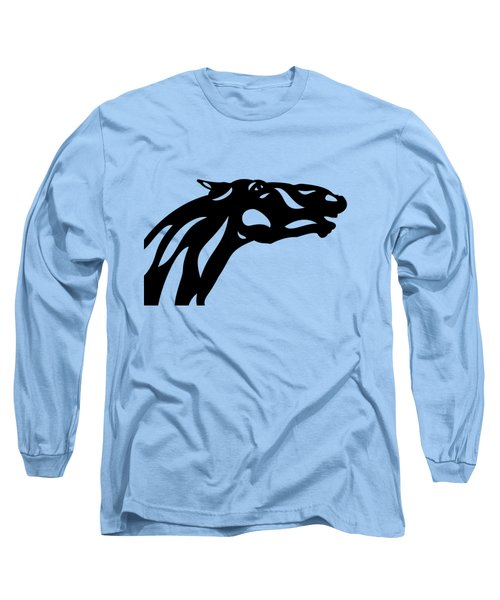 Long Sleeve T-Shirt featuring the painting Fred - Abstract Horse by Manuel Sueess