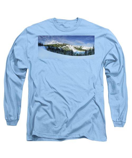 Long Sleeve T-Shirt featuring the photograph Fresh Snow At Mount Rainier by Dan Mihai