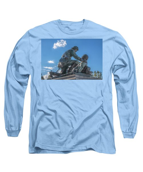 Long Sleeve T-Shirt featuring the photograph Friend To Friend Monument Gettysburg by Randy Steele