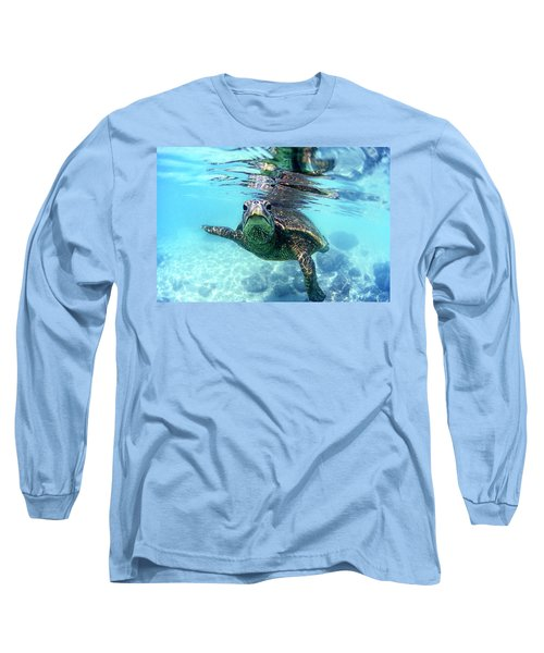 friendly Hawaiian sea turtle  Long Sleeve T-Shirt