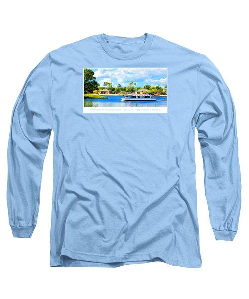 Friendship Boat On The Lagoon Epcot Walt Disney World Long Sleeve T-Shirt