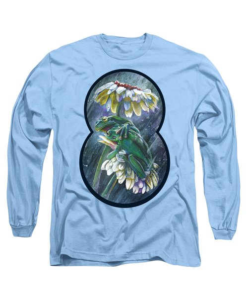 Frogs- Optimized For Shirts And Bags Long Sleeve T-Shirt by Michael Volpicelli