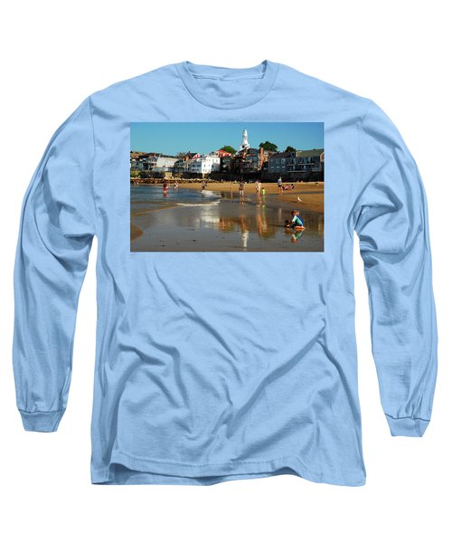 Front Beach Long Sleeve T-Shirt by James Kirkikis